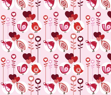 Lovely Birds fabric by valentinaharper on Spoonflower - custom fabric