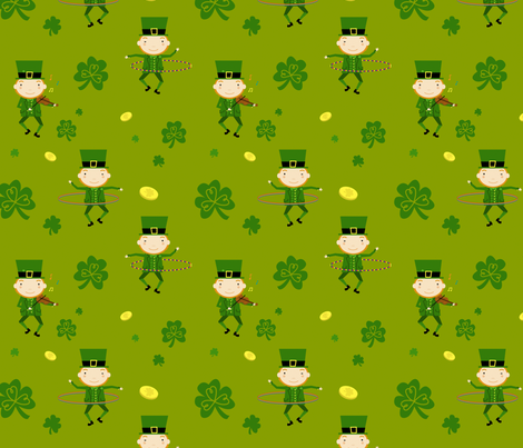 Leprechaun Hoopers fabric by jenimp on Spoonflower - custom fabric