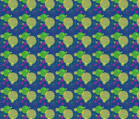 FIREWORKS PRINT fabric by rke on Spoonflower - custom fabric