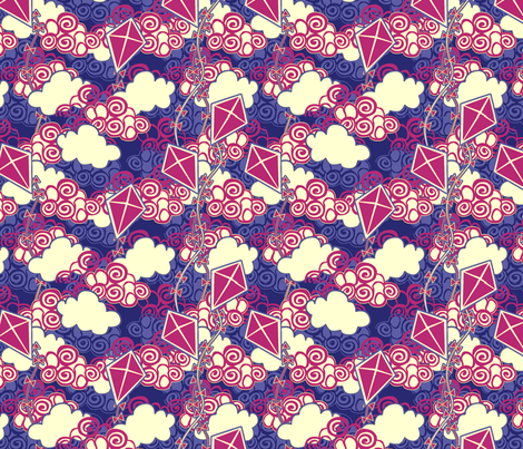 ©2011 go fly a kite patriotic fabric by glimmericks on Spoonflower - custom fabric