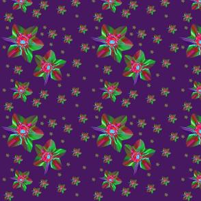 Flowers on the black