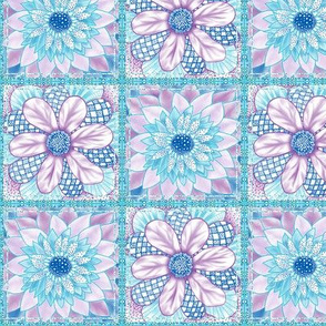 Flower Squares - Two Flower Patchwork