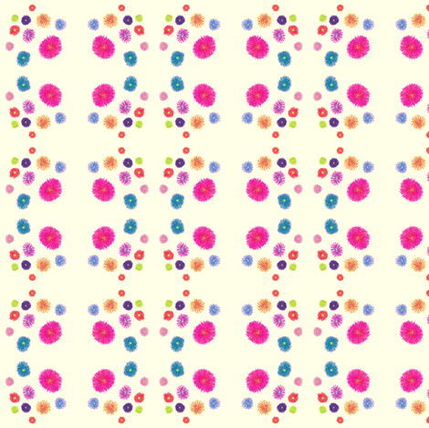 Flora Flower Pompons fabric by angelsgreen on Spoonflower - custom fabric