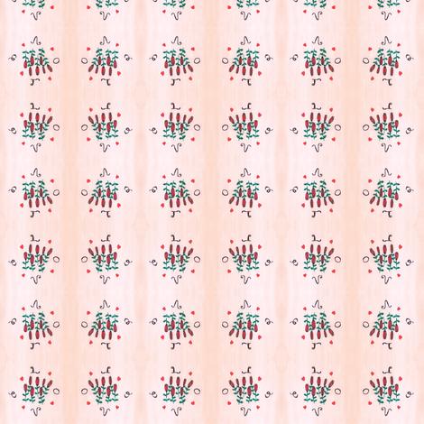 Flora Rose Love fabric by angelsgreen on Spoonflower - custom fabric