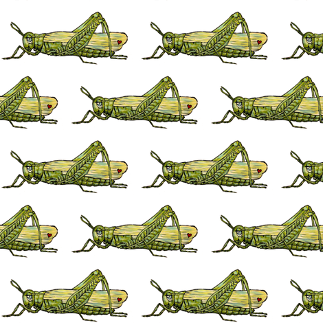 Grasshopper fabric by taraput on Spoonflower - custom fabric