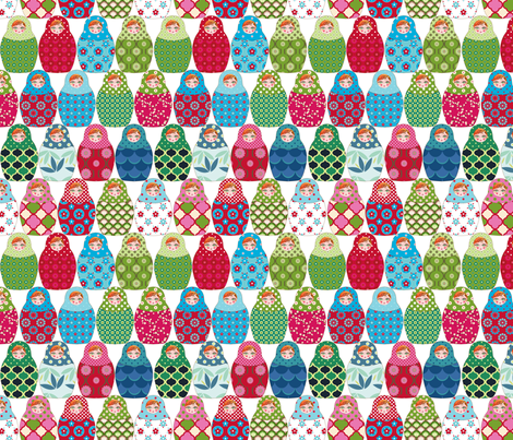 poupée russe Vick M fabric by nadja_petremand on Spoonflower - custom fabric