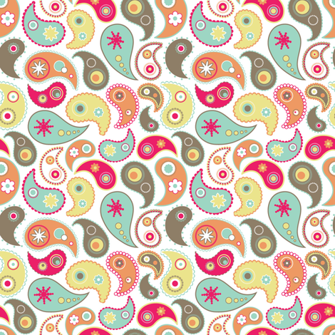 Candy paisley fabric by martinaness on Spoonflower - custom fabric