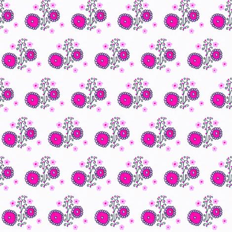 Flora Flower Lavia fabric by angelsgreen on Spoonflower - custom fabric