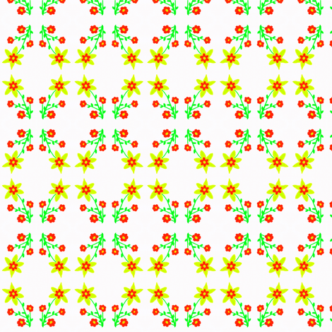 Flora Flower Sunny fabric by angelsgreen on Spoonflower - custom fabric