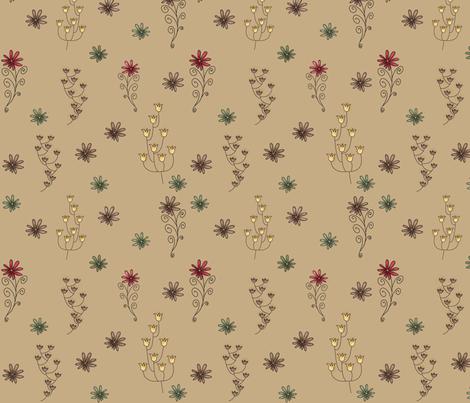 Wild fields around her fabric by catru on Spoonflower - custom fabric