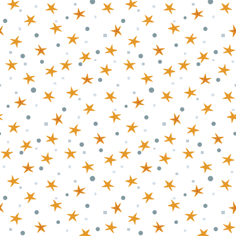 If By Ocean - Beach Block Coordinate, Starfish fabric by ttoz on Spoonflower - custom fabric