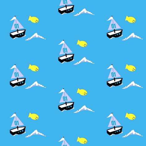 monkey island / boat fabric by paragonstudios on Spoonflower - custom fabric