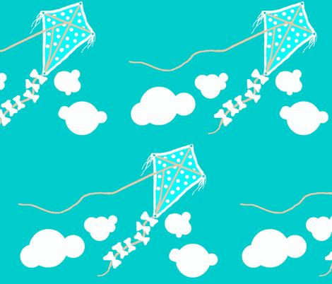 life's a Beach / kite fabric by paragonstudios on Spoonflower - custom fabric