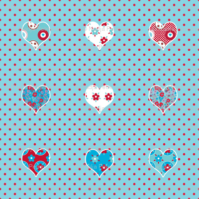 coeur_fond_turquoise_pois