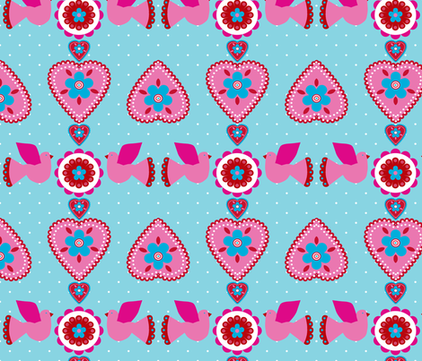 oiseau_coeur fabric by nadja_petremand on Spoonflower - custom fabric