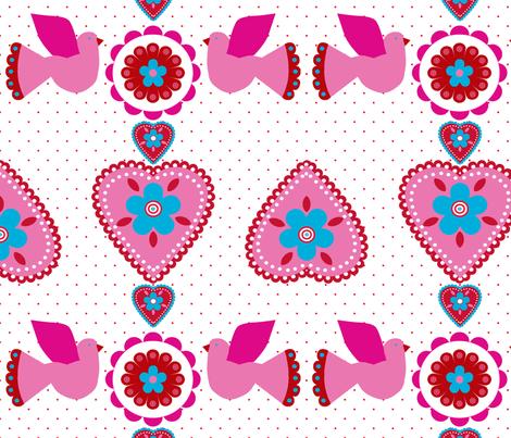oiseau_coeur_fond_blanc fabric by nadja_petremand on Spoonflower - custom fabric