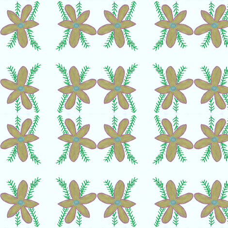 Flora Flower Stargold fabric by angelsgreen on Spoonflower - custom fabric