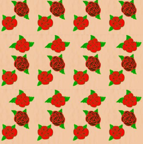 Flora Flower Roses fabric by angelsgreen on Spoonflower - custom fabric