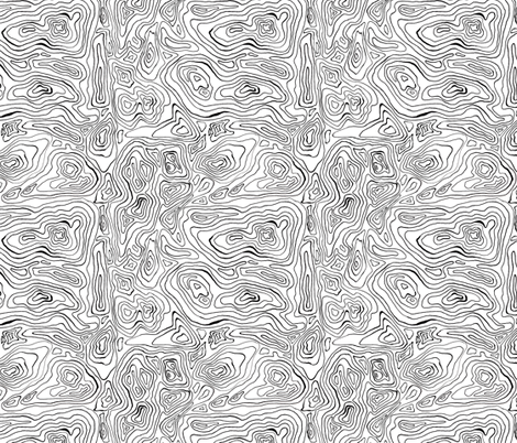 Mapping Contours_ fabric by woodledoo on Spoonflower - custom fabric