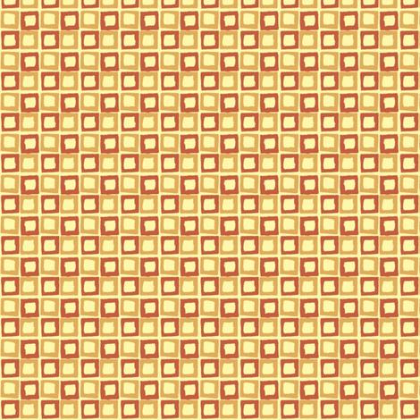 backyard red orange fabric by housewrenstudio on Spoonflower - custom fabric