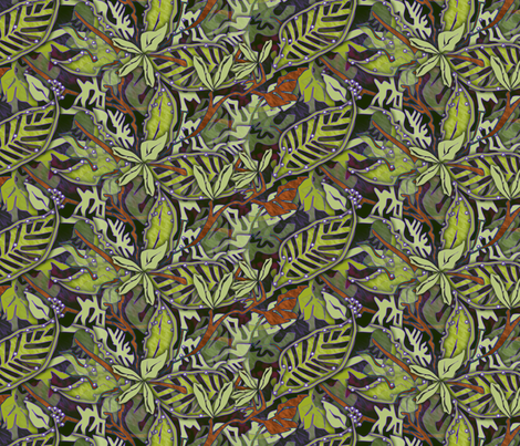 ©2011 its a jungle fabric by glimmericks on Spoonflower - custom fabric