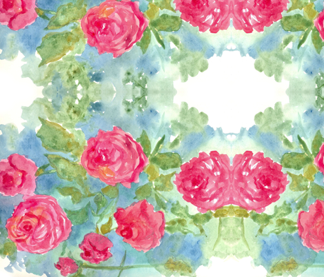 Pink Cabbage Roses fabric by countrygarden on Spoonflower - custom fabric