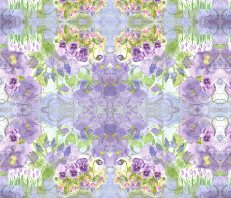 Grape Hyacinth Purple Swirl fabric by countrygarden on Spoonflower - custom fabric