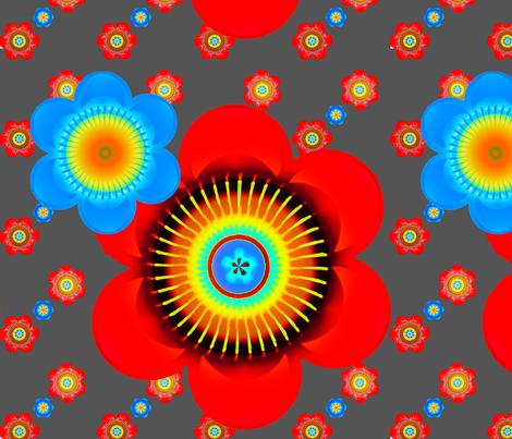 Mod Pop Flowers fabric by joanmclemore on Spoonflower - custom fabric