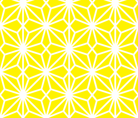 Flower Lattice Lemon fabric by dolphinandcondor on Spoonflower - custom fabric