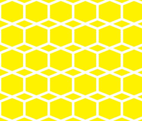 Modern Lattice Lemon fabric by dolphinandcondor on Spoonflower - custom fabric