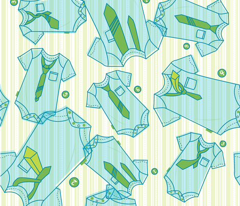juliethompson_babyboy_buddingfashionista fabric by makeshiftmodern on Spoonflower - custom fabric