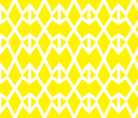Triangle Lattice Lemon V1 fabric by dolphinandcondor on Spoonflower - custom fabric