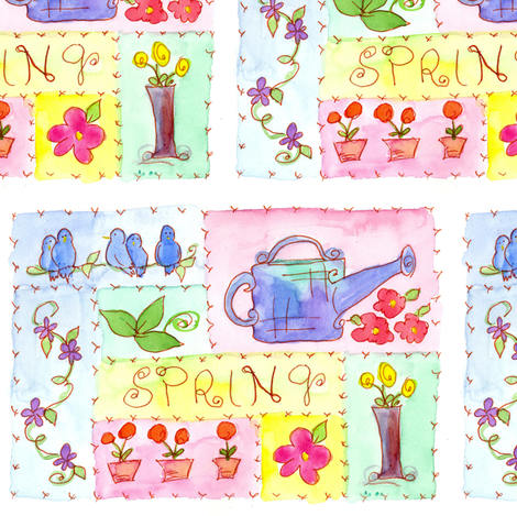Spring Sampler fabric by countrygarden on Spoonflower - custom fabric