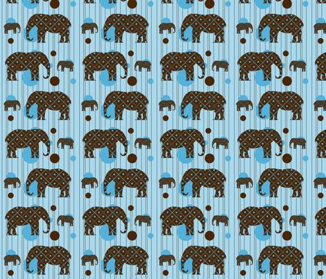 Blue Dot Elephant Plaid fabric by saraelizabeth on Spoonflower - custom fabric