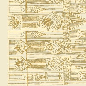 Gothic Cathedral Border (Cream/Gold)