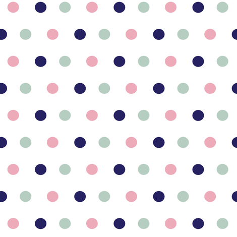 Boho Polka Dots ©2015 Jill Bull fabric by palmrowprints on Spoonflower - custom fabric