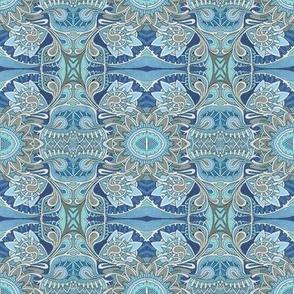 Tribal Flowers blue