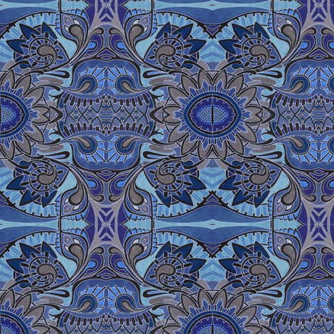 Blueblooded British Traditions fabric by edsel2084 on Spoonflower - custom fabric