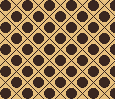 barista tic tac toe fabric by terriaw on Spoonflower - custom fabric