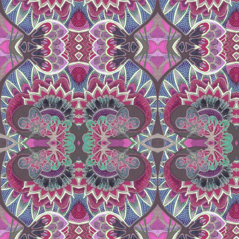 Contemplations on a Lotus Flower fabric by edsel2084 on Spoonflower - custom fabric