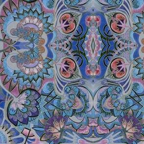Artichoke Hearts (blue / gray)