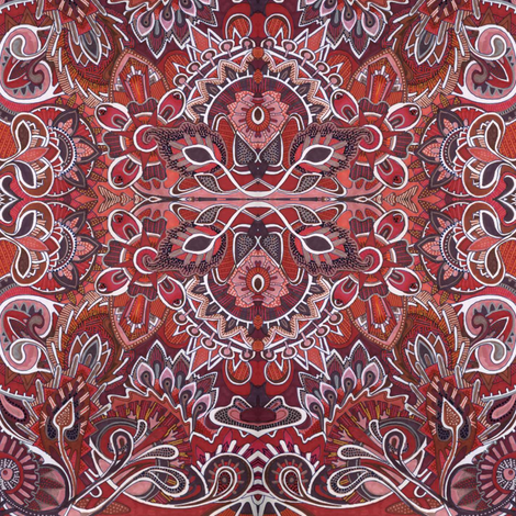 Martian Landscape fabric by edsel2084 on Spoonflower - custom fabric