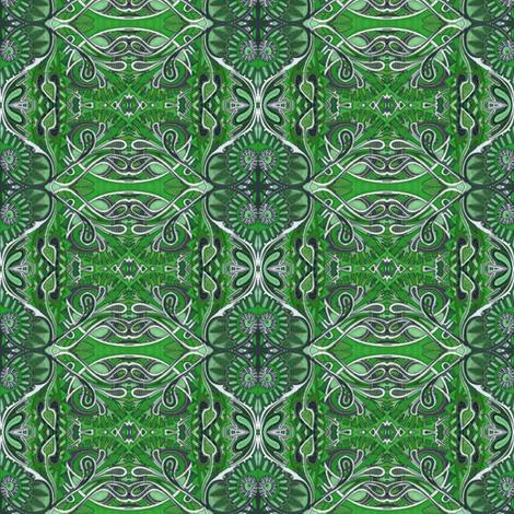 Green Bandana fabric by edsel2084 on Spoonflower - custom fabric