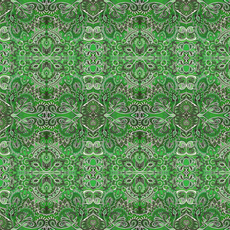 Banana Rama Green Bandana fabric by edsel2084 on Spoonflower - custom fabric