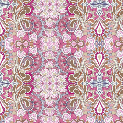 Queen Victoria's closet (pink) fabric by edsel2084 on Spoonflower - custom fabric