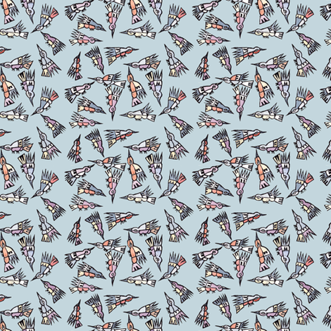 Inca Birds fabric by woodledoo on Spoonflower - custom fabric