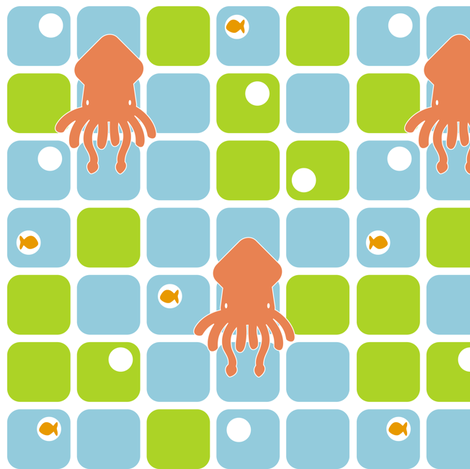 SquidSquares2 fabric by sorensen on Spoonflower - custom fabric