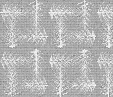 Obsessed with Feathers and Texture fabric by mermaidgirl on Spoonflower - custom fabric
