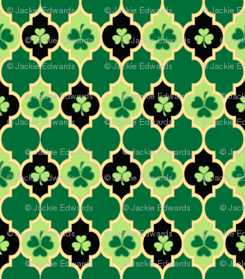 Quatrefoil Irish Shamrocks