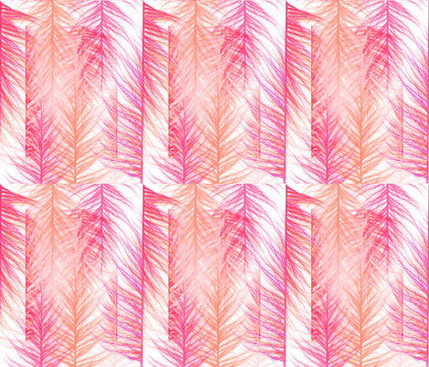 Day Two: Layers and Layers of Feathers OH MY! fabric by mermaidgirl on Spoonflower - custom fabric
